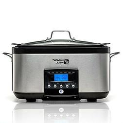Magic Mill 5-In-1, 6-Quart Multi-Cooker, Slow Cooker, Brown/
