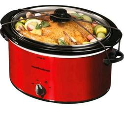Hamilton Beach 5 Quart Portable Slow Cooker Kitchen Cooking