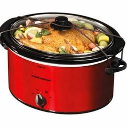 Hamilton Beach 5 Quart Portable Slow Cooker Kitchen Red