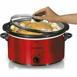 5 Quart Portable Slow Cooker RED Hamilton Beach Crock Pot St