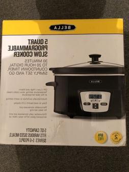 Bella 5 Quart Programmable Slow Cooker - 14337