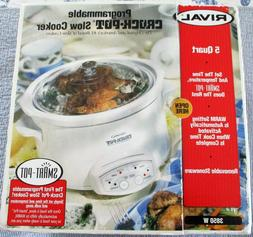 RIVAL 5 QUART PROGRAMMABLE SLOW COOKER/CROCK POT. 3850W. NIB