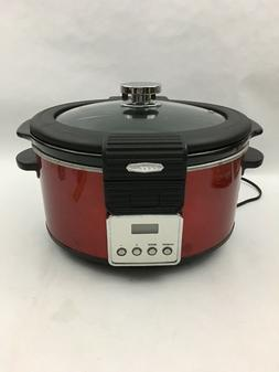 BELLA 5 quart programmable slow cooker with DIGITAL COUNTDOW
