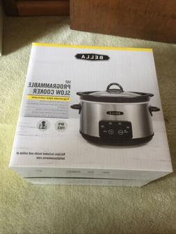 Bella- 5 Quart Programmable Slow Cooker With Recipes