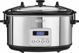 5-Quart Slow Cooker - black/silver