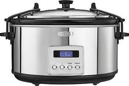 Bella - 5-Quart Slow Cooker - black/silver