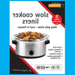 10x Slow Cooker Liners, Transparent, No Mess On Pots Bags, O