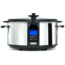 BELLA  6.5 Quart Programmable Searing Slow Cooker with Locki