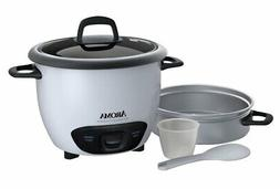 AROMA - 6-Cup Rice Cooker - White