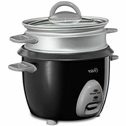 Oster 6-Cup Rice Cooker With Steam Tray, Black  Kitchen &amp