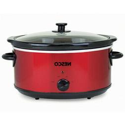 Nesco 6 Qt. Analog Metallic Red Slow Cooker SC-6-22