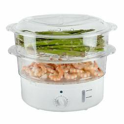 6 Qt Electric Vegetable Fish Rice Egg Steamer Healthy Meal C