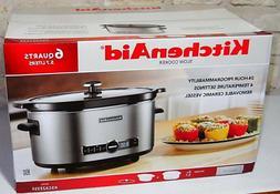 KitchenAid 6 Qt Slow Cooker Removable Oval-Shaped Ceramic Ve