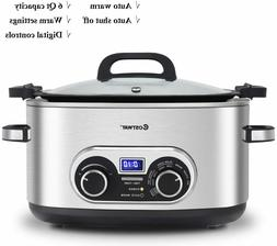 6 Quart 4-in-1 Stainless Multi Cooker Crock-pot Quality prod
