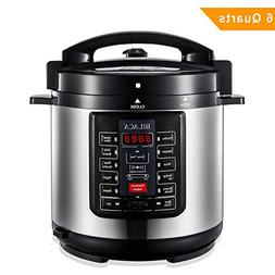 BILACA Pressure Cooker 6 Quart 9-in-1 Multi-Use Programmable