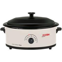 Nesco 6 Quart Capacity Ivory Roaster Oven - Porcelain Cookwe