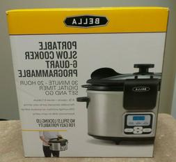 Bella 6-Quart Programmable Slow Cooker 13722W - NEW, Sealed!