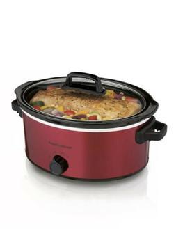 Hamilton Beach 6 Quart Qt Slow Cooker, Red Model# 33666 Dish