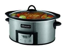 Crock-Pot 6-Quart Slow Cooker with Stovetop-Safe Cooking Pot