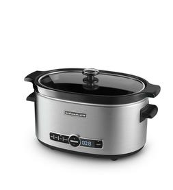 KitchenAid 6-Quart Slow Cooker with Solid Glass Lid, Stainle