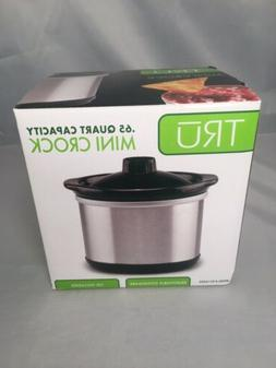 TRU .65 Quart Mini Crock Oval Stainless Steel NIB