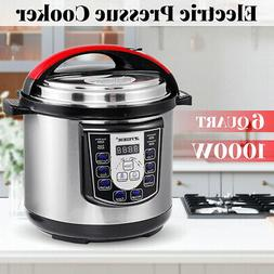 6L Electric Slow/Pressure Cooker 1000W Multi-function 8 Pres