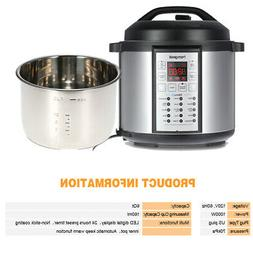 Homgeek 6Qt/1000W High-End Professional Pressure Slow Cooker