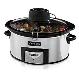 Crock-Pot 6Qt Polished Stainless Oval Programmable Digital S