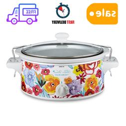 Pioneer Woman 6qt Portable Slow Cooker With Clips Crock Pot