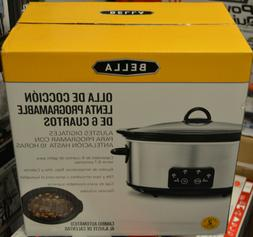 Bella ‑ 6‑Quart Programmable Stainless Steel Slow Cooker