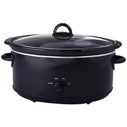 Costzon 7-Quart Large Oval Manual Slow Cooker, Stainless Ste