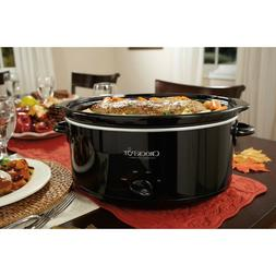 Crock-Pot 7-Quart Manual Slow Cooker, Black, SCV700-B2