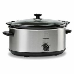 Toastmaster 7 Qt Oval Stainless Steel Slow Cooker NEW