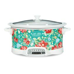 7 quart programmable slow cooker vintage floral