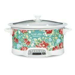 7 Quart Slow Cooker Programmable Crock Pot Vintage Floral Ho