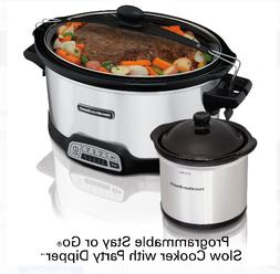 Hamilton Beach 7 Quart Stay or Go Programmable Slow Cooker w