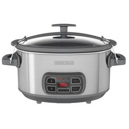 7qt slow cooker stainless steel locking digital
