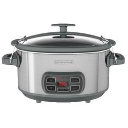 7Qt Slow Cooker Stainless Steel Locking Digital Programmable