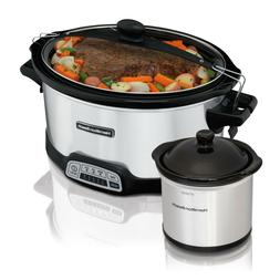 HAMILTON BEACH 7QT STAY OR GO PROGRAMMABLE SLOW COOKER W/ DI