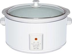 Brentwood SC-165W 8.0 quart Slow Cooker In White