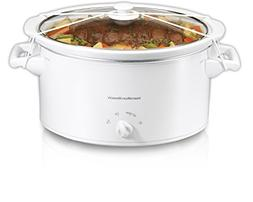 Hamilton Beach 8-Quart Slow Cooker Model 33181, White, 1 ea