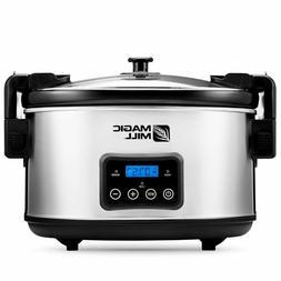 Magic Mill 8.5 Quart Slow Cooker Crock Pot, Digital Programm