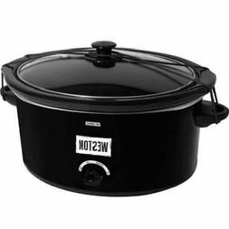Weston 8 Qt Slow Cooker with Lid Latch Strap