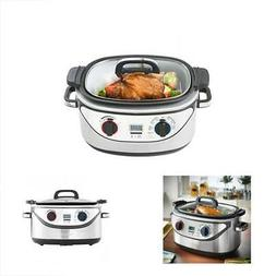 8 Slow Cookers In 1 Multi 5-Quart Stainless Steel Cook, Simm