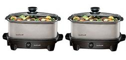 West Bend 84905 Oblong Versatility Slow Cooker, 5-Quart, Sil