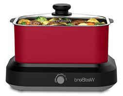 West Bend 87906R 6 Qt. Versatility Cooker w/Travel Lid & The