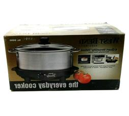 West Bend 87966 Versatility Slow Cooker 6-Quart Silver
