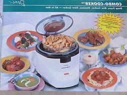 Deni 9100 Combo Cooker Deep Fryer Steamer Rice Cooker Slow C