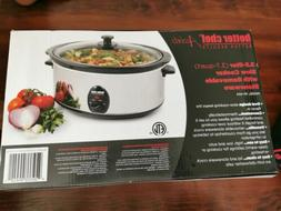 Better Chef - 3-3/4-quart Slow Cooker - Stainless-steel