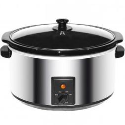 - Brentwood 8.0 Quart Slow Cooker Stainless Steel
